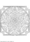 Kleurplaat mandala-1502q