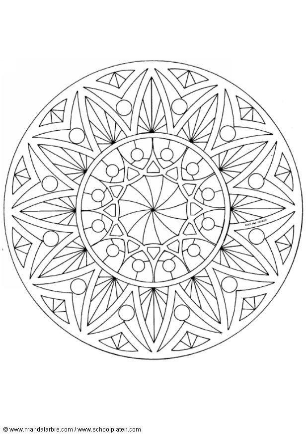 Kleurplaat Volwassenen Kleurplaat Mandala 1502u Afb 4494 Images