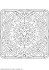 Kleurplaat mandala-1502w