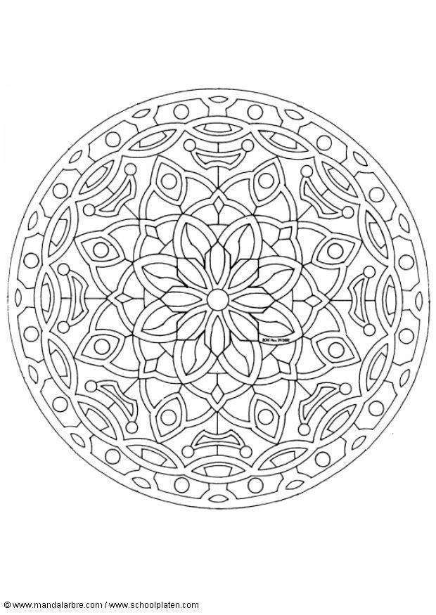 Kleurplaat Mandala 1602c Gratis Kleurplaten Om Te Printen