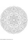 Kleurplaat mandala-1602l