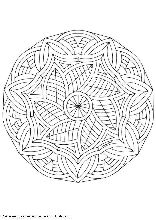 Kleurplaat Mandala 1602m Afb 4512