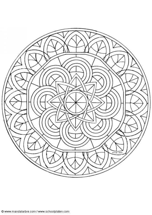 Kleurplaat Mandala 1602p Afb 4515 Images