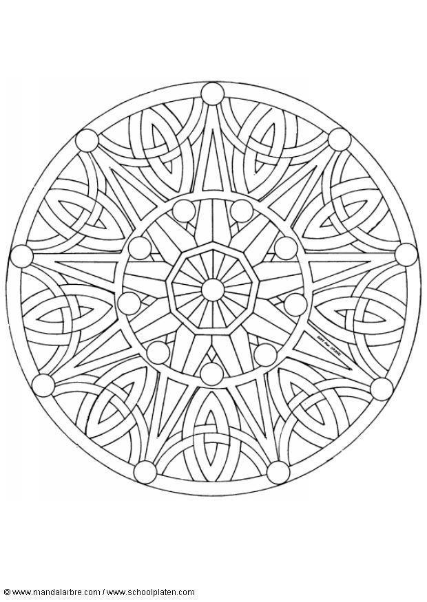 Kleurplaten Voor Volwassenen Dieren Printen Kleurplaat Mandala 1702b Afb 4518 Images