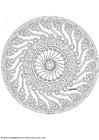 Kleurplaat mandala-1702g