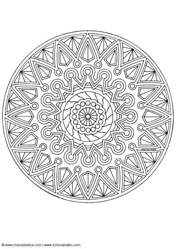 Herfst Dieren Kleurplaat Kleurplaat Mandala 1702i Afb 4525