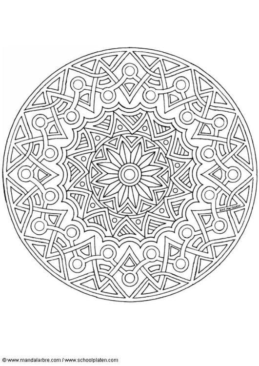 Afbeelding Poes Kleurplaat Kleurplaat Mandala 1702j Afb 4526