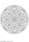 Kleurplaat mandala-1702k