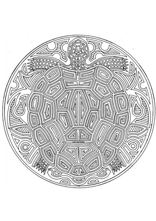 Kleurplaten Dieren Mandala.Kleurplaat Mandala 1802c Afb 18708