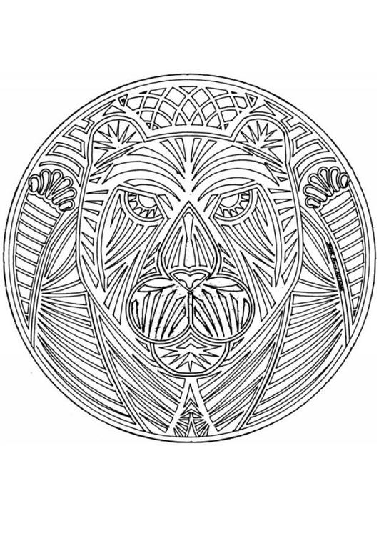 Kleurplaten Dieren Mandala.Kleurplaat Mandala 1802d Afb 4567