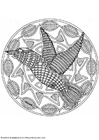 Kleurplaat mandala-1802e