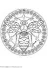 Kleurplaat mandala-1802f
