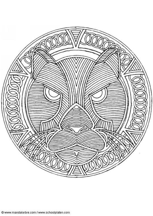 Kleurplaat Mandala 1802h