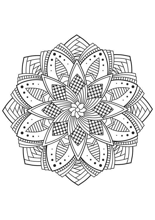 kleurplaat mandala bloem gratis kleurplaten om te printen