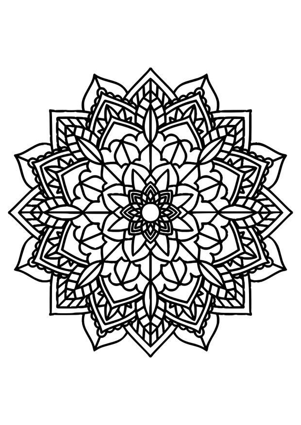 kleurplaat mandala gratis kleurplaten om te printen