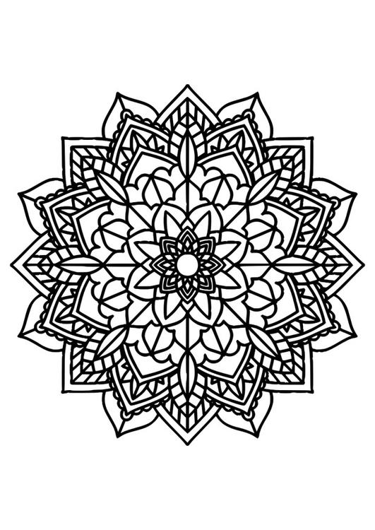 Kleurplaten Mooie Mandala.Kleurplaat Mandala