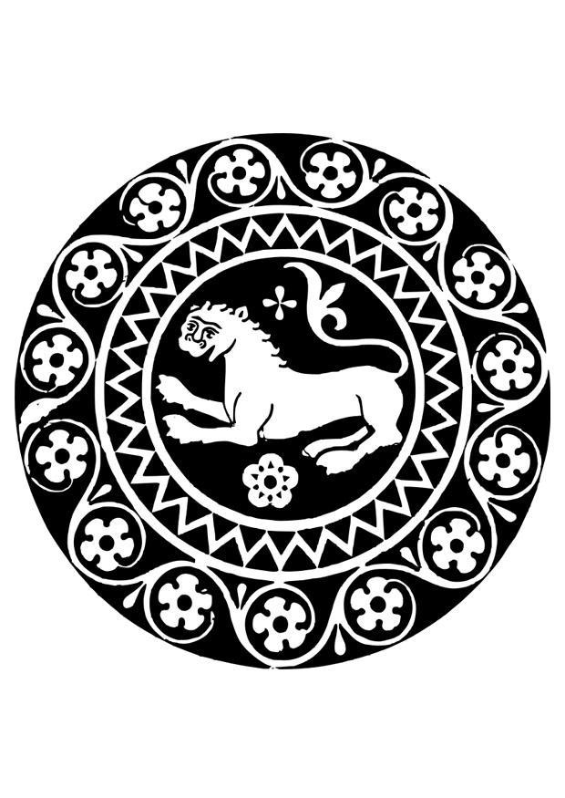 kleurplaat mandala leeuw afb 26334 images