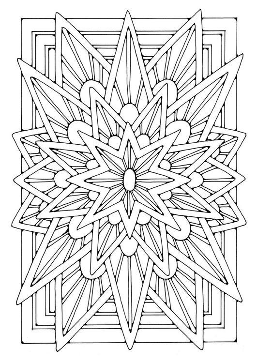 Kleurplaten Ster Mandala.Kleurplaat Mandala Ster Afb 21906
