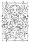 Kleurplaat mandala - ster