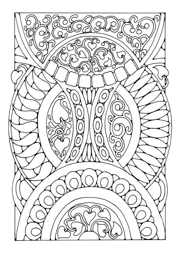 Kleurplaat Mandala3a Afb 21899