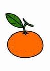 Kleurplaat mandarijn