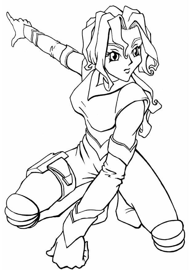 Kleurplaat Manga Spacegirl Afb 8905 Images