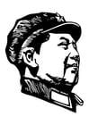 Kleurplaat Mao Zedong