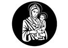 Kleurplaat Maria en Jezus
