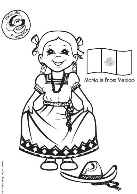 kleurplaat met mexicaanse vlag gratis kleurplaten