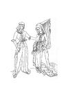 Kleurplaat maria van bourgondie en maximilian