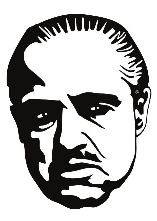 Kleurplaat Marlon Brando Afb