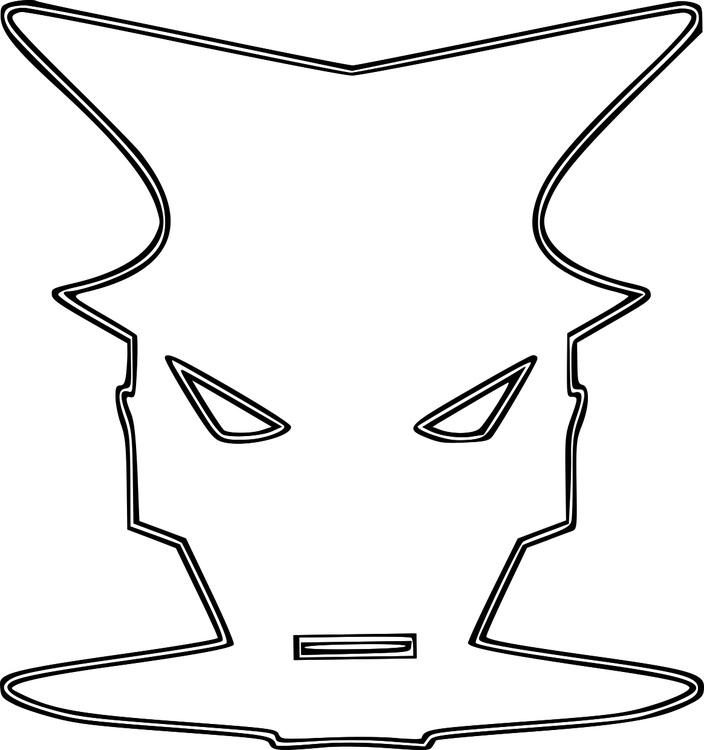 Kleurplaat Masker Afb 16151