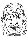 Kleurplaat masker piraat