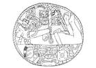 Kleurplaat Maya gevangene