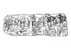 Kleurplaat Maya heersers
