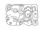 Kleurplaat Maya kunst