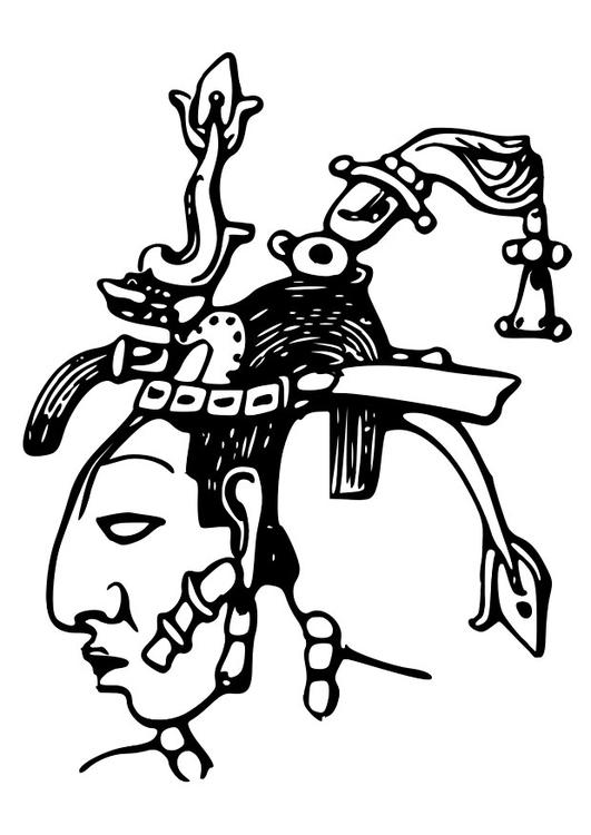 Kleurplaten Maya De Bij.Kleurplaat Maya Pacal Afb 28127