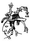 Kleurplaat Maya - Pacal
