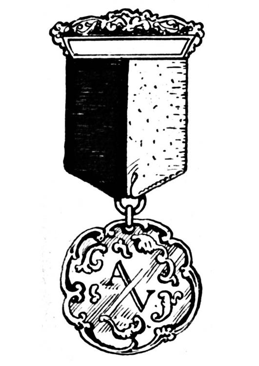 Kleurplaat Militair Kleurplaat Medaille Afb 18874