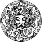 Kleurplaat Medusa