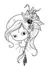 Kleurplaat meisje - teken neus en mond