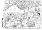 Kleurplaat Middeleeuwse keuken