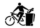 Kleurplaat milieuvriendelijk transport