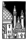 Kleurplaat minaret