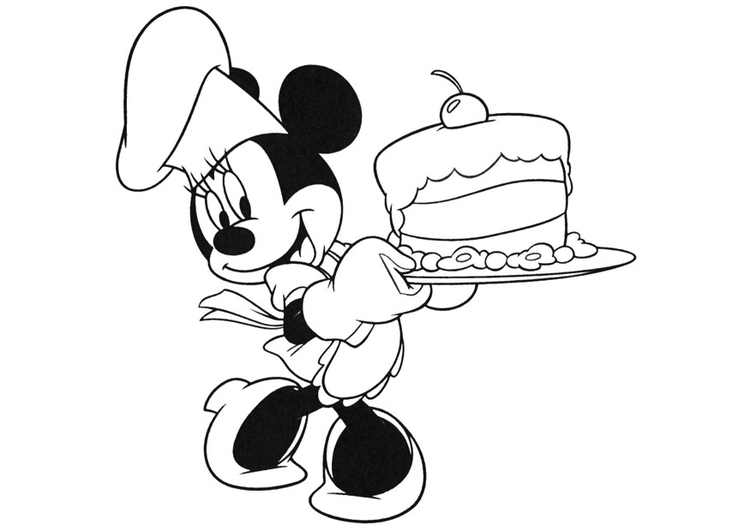 Kleurplaat Minnie Mouse Afb 20740