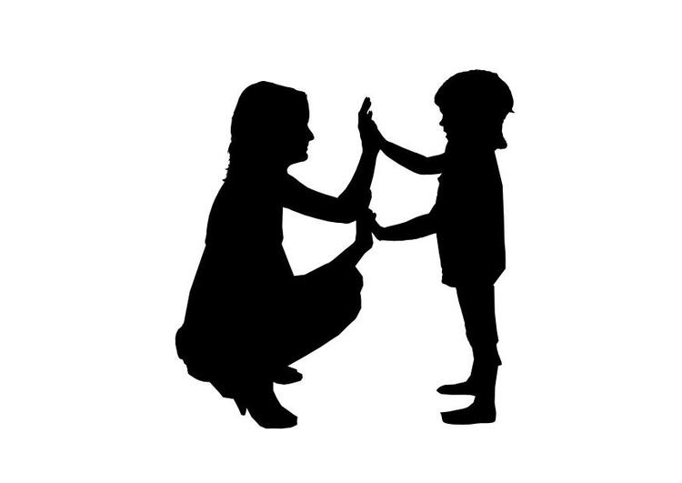 Kleurplaat Moeder Met Kind Afb 26155