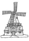 Kleurplaat molen