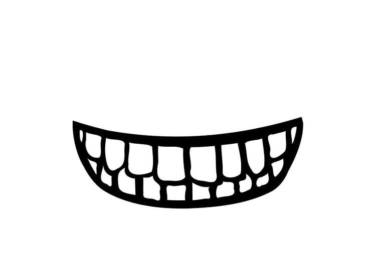 kleurplaat mond gratis kleurplaten om te printen
