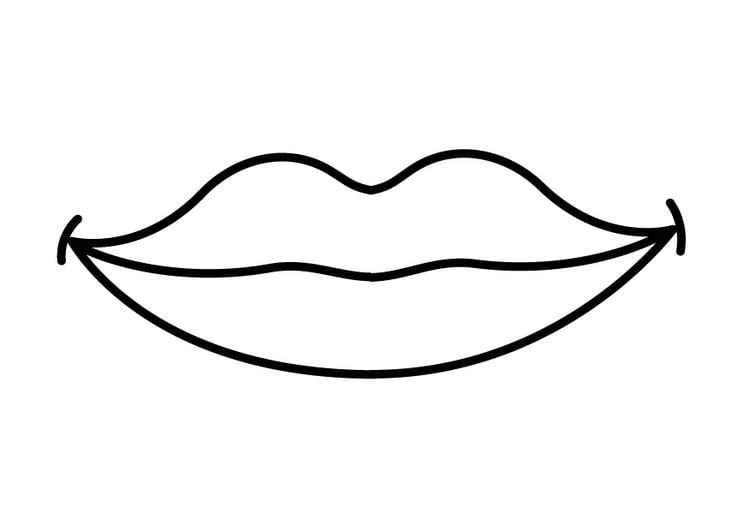 kleurplaat mond afb 26916