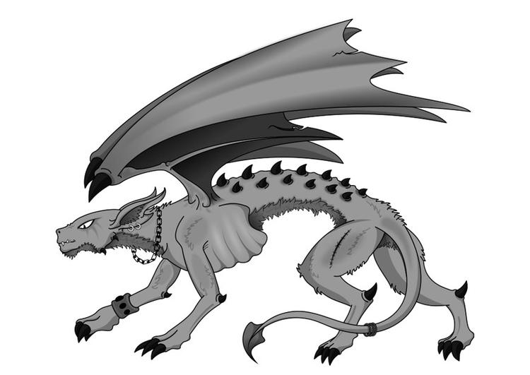 Kleurplaat Monster Afb 27500